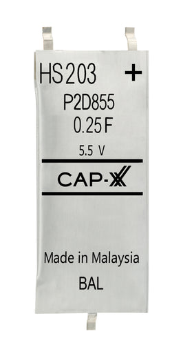 CAP-XX Dual Cell Supercapacitor - HS203F