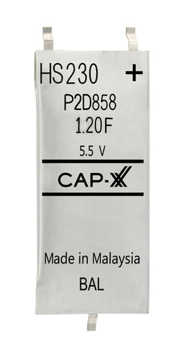 CAP-XX Dual Cell Supercapacitor - HS230F