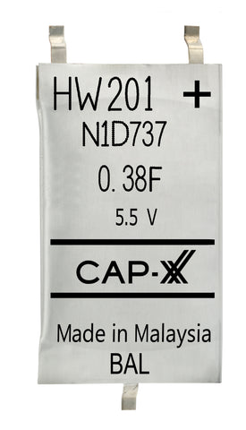 CAP-XX Dual Cell Supercapacitor - HW201F