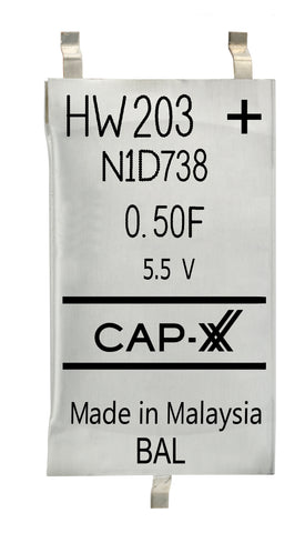 CAP-XX Dual Cell Supercapacitor - HW203F