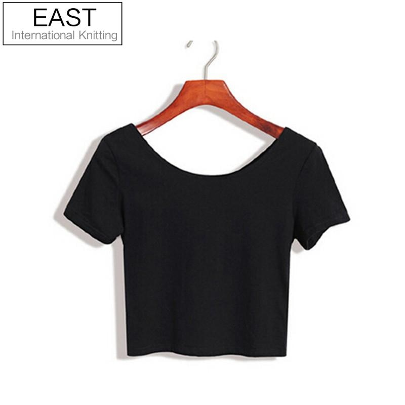 E116 Basic Stretch Women Sexy Crop Top Girl Short Sleeve T Shirt Tee Black White Grey Vest Camisole Regata Feminina