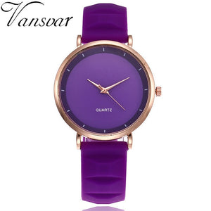 Vansvar Fashion Jelly Silicone Women Watches Luxury Brand Casual Ladies Quartz Clock Wristwatches Clock Montre Femme