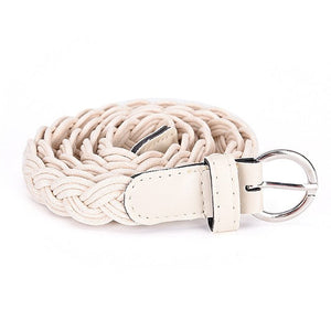 Braid Belt Slim Waistband Girdle Womens Weave Belt New Style Braided Hemp Rope Female Belt For Dress