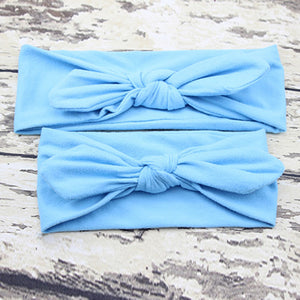 Mother Baby Rabbit Ear Hair Ornaments Knotted Bow Parent Child Elastic Headband