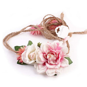 Women Girl Boho Flower Floral Hairband Headband Wreath Party Bride Wedding Beach Hair Accessories