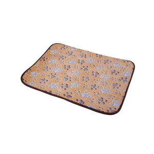 Bamboo Pet Dog Double-sided Mat Summer Puppy Cooling Mat Pad Bed Blanket