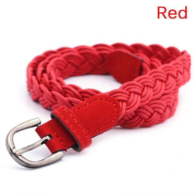 Length 102cm Womens Belt Candy Colors Hemp Rope Braid Belt Female Belt For Dress New Arrival