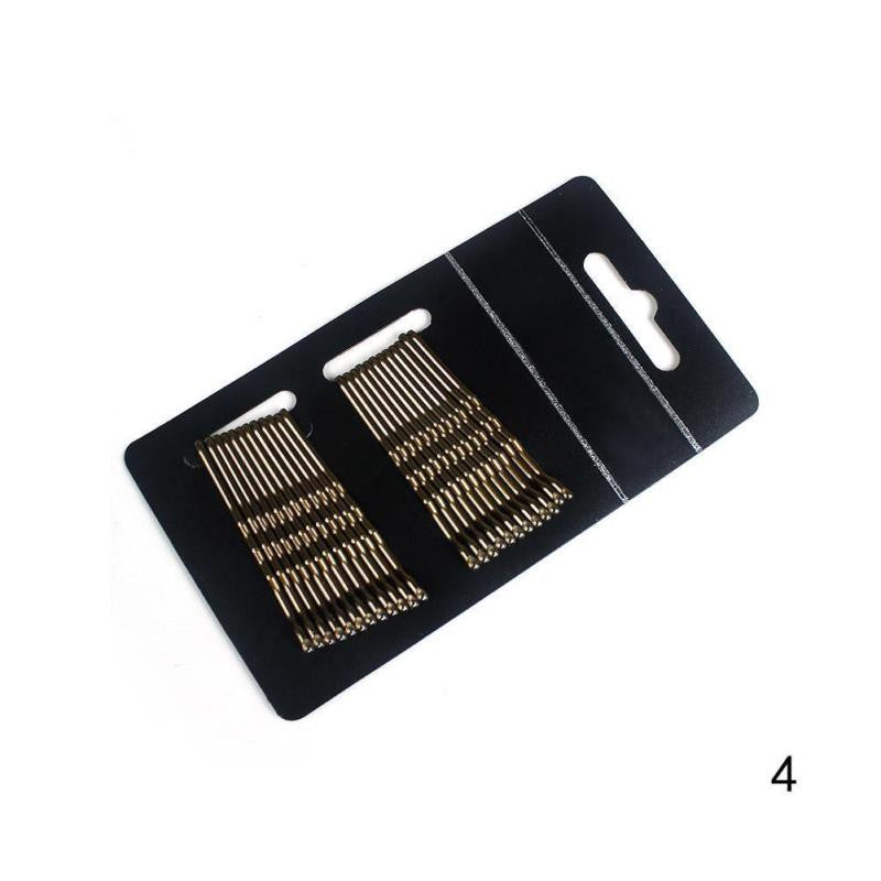 24pcs/box Women Grils Lot Black Metal Waved Hair Bobby Clip Salon Pin Grip Hairpin Barrette