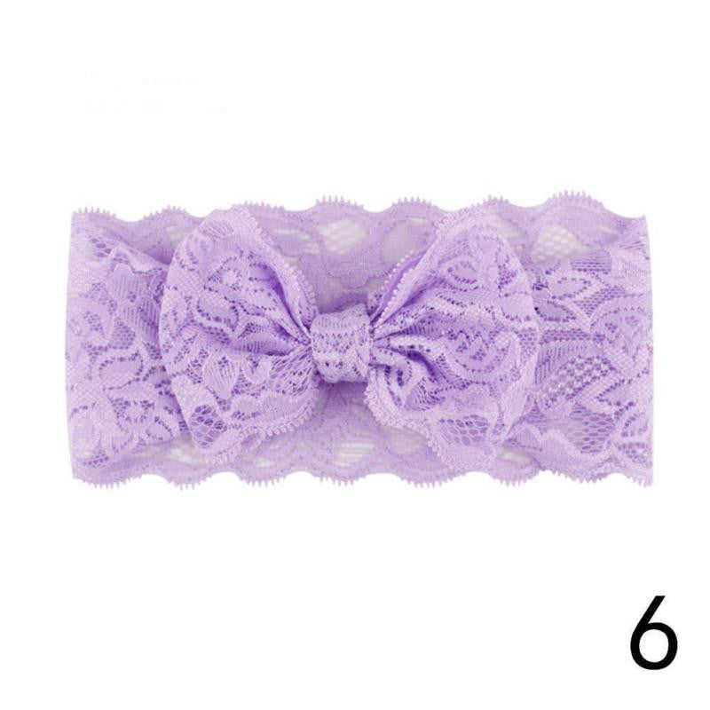 Baby Girls Toddler Kids Lace Sequin Bow Headband Hair Band Accessories Headwear