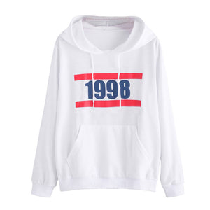 Womens Printing Long Sleeve Hoodie Sweatshirt Hooded Pullover Tops Blouse