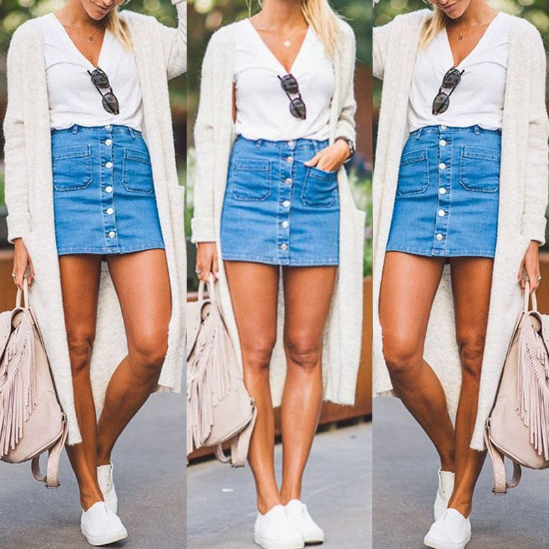 Fashion Lady Skirt Denim skirt