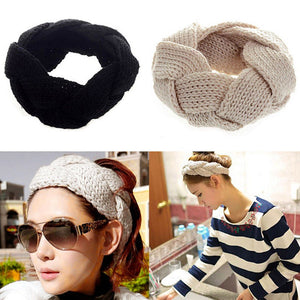 Crochet Twist Knitted Headwrap Winter Warmer Hair Band for Women Accessories New