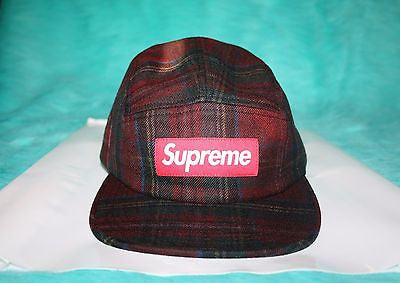 1df5866c739 2016 Fall Winter Supreme Plaid Camp Cap – house of the nonchalant