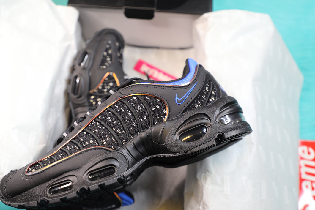 5fbf64052f ... 2019 Supreme x Nike Air Max Tailwind IV Black Size 10 AT3854-001 ...