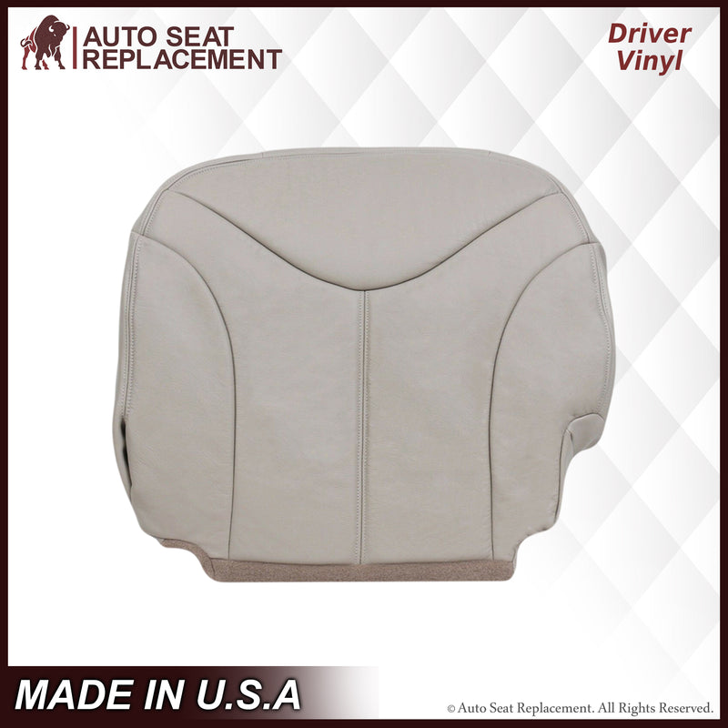 2000 2001 2002 GMC Yukon Vinyl Driver Bottom Shale Tan Auto Seat Replacement