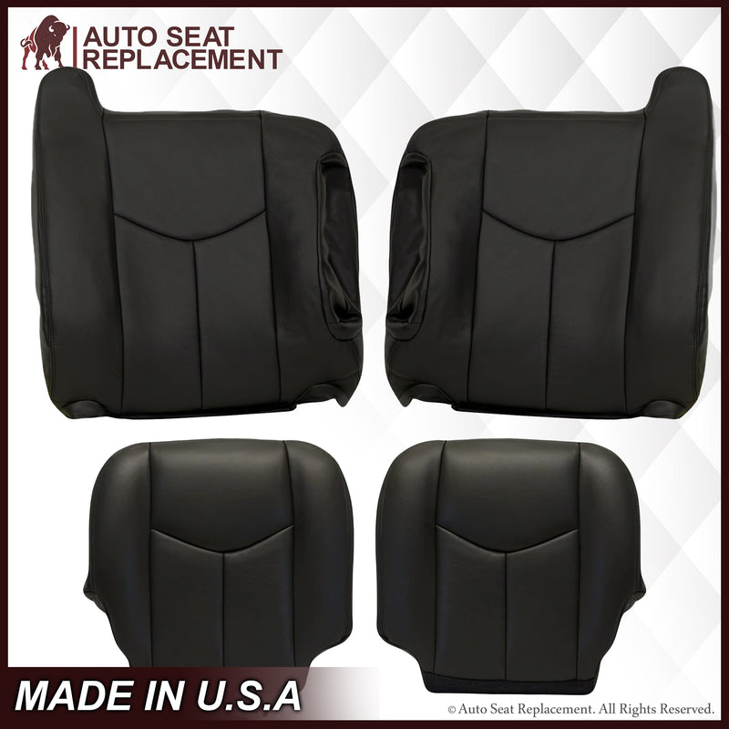 2003-2007 GMC Sierra Seat Cover in Dark Gray: Choose Leather or Vinyl
