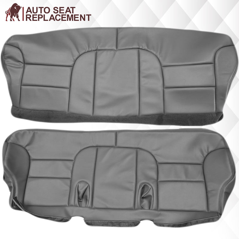 1995-1999 GMC Yukon Suburban SLT SLE 2nd Row Bench Seat Cover in Gray: Choose your options