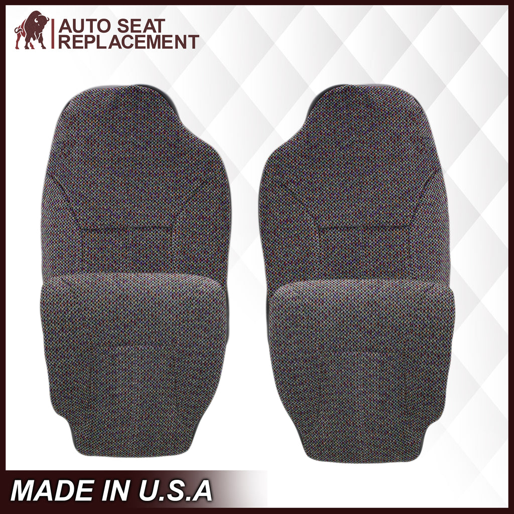 1998-2001 Dodge Ram 1500 SLT Laramie Seat Cover in Cloth with Dark Gray skirt: Choose From Variation