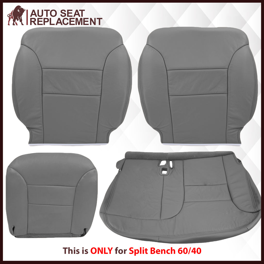 1995-1999 Chevy Tahoe/Suburban/Silverado Seat Cover in Gray (60/40 Bench Bottoms): Choose your options