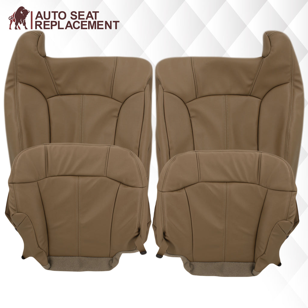 1999-2002 GMC Sierra SLT Seat Cover in Medium Dark Oak Tan (trim code 672 or 67i)