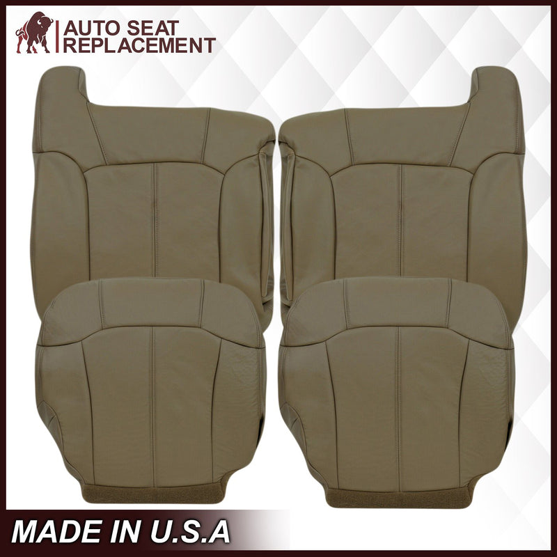 1999-2002 Chevy Silverado Seat Cover in Medium Neutral Tan: Choose From Variations