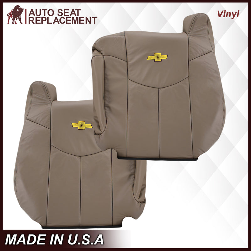 2002 Chevy Avalanche Seat Cover in Medium Neutral Tan: Choose From Variations