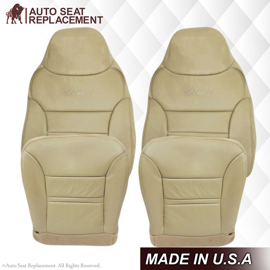 2000 2001 Ford Excursion Limited Passenger Lean Back Leather Seat Cover Tan