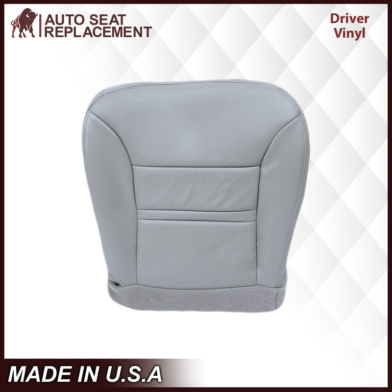 2000 Ford Excursion Driver Passenger Bottom Top Leather OEM replacement seat cover replacement Gray Auto Seat Replacement