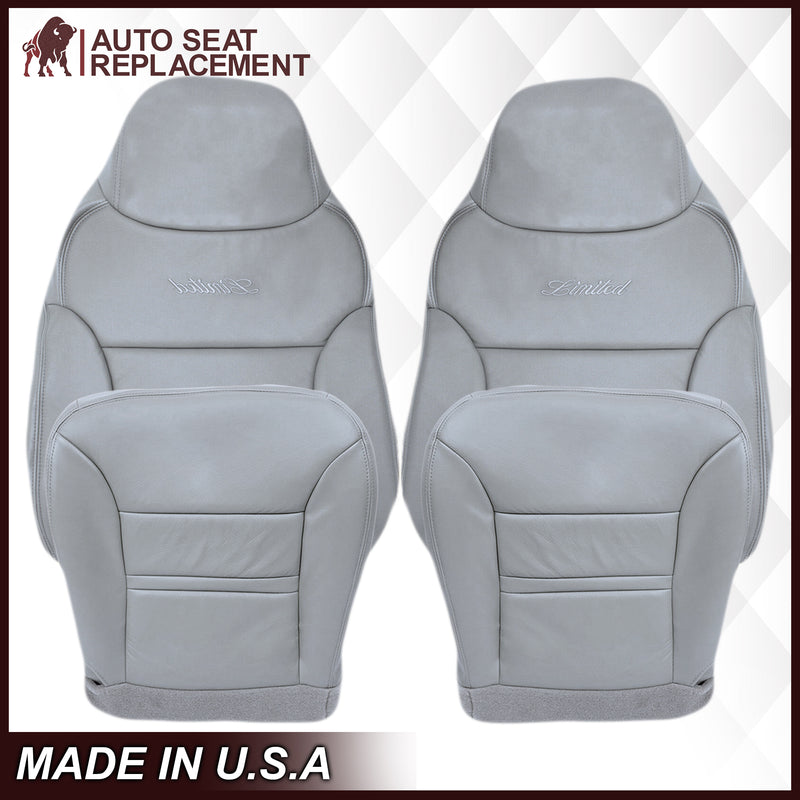 2000 2001 Ford Excursion Driver Bottom Top OEM replacement Leather seat cover Gray Auto Seat Replacement