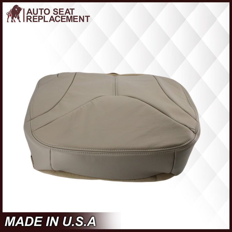 2000-2002 GMC Yukon XL 2nd Row Captain Seat 50/50 Seat Cover in Shale Tan: Choose From Variation