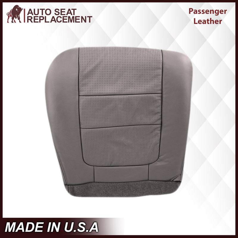 2001 Ford F250 F350 Lariat Perforated Seat Cover in Gray: Choose Leather or Vinyl