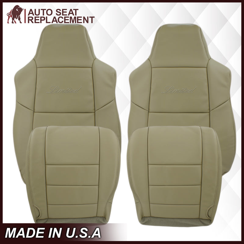 2002-2005 Ford Excursion Limited Seat Cover in Tan: Choose From Variations
