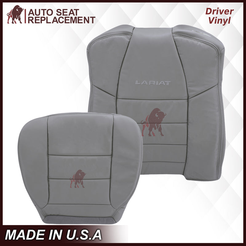 2002-2007 Ford F250/F350/F450/F550 Lariat Extended Cab Seat Cover in Flint Gray: Choose Leather or Vinyl