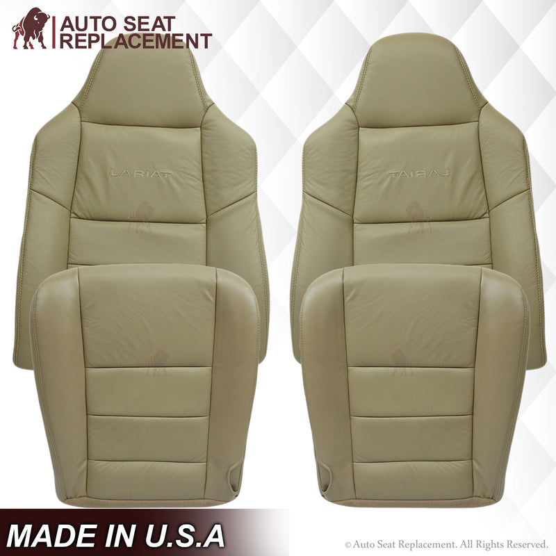 2002 2003 2004 2005 2006 2007 Ford F250 F350 Lariat Diesel  Seat Cover Replacement  Tan 4H AutoseatReplacement