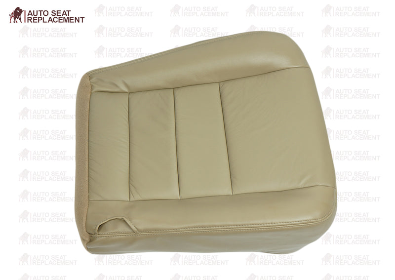 2002 To 2007 Ford F250 F350 Lariat Driver and passenger Bottom Leather Seat Cover TAN