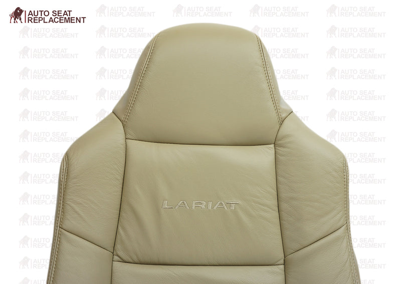 2002 To 2007 Ford F250 F350 Lariat Driver and passenger top-back Leather Seat Cover TAN