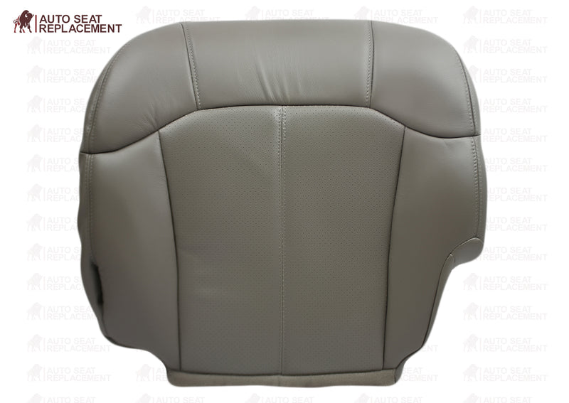 2000 2001 2002 Cadillac Escalade leather Seat Cover replacement driver bottom Pewter Perforated Gray Auto Seat Replacement