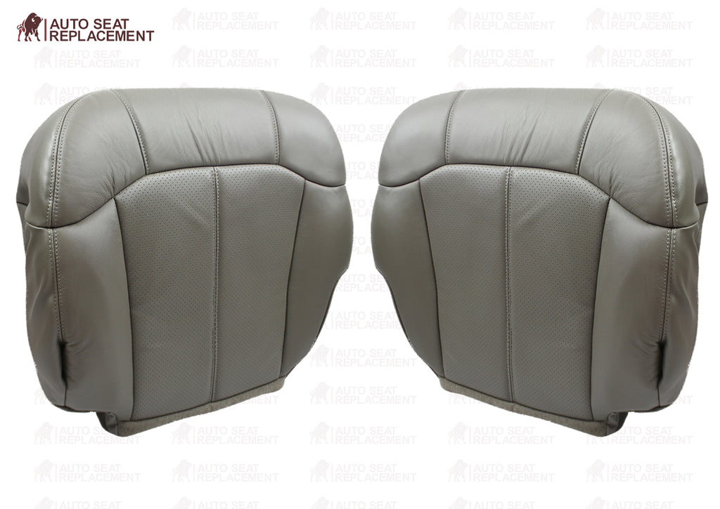 2000 2001 2002 Cadillac Escalade leather Seat Cover Pewter Perforated Gray