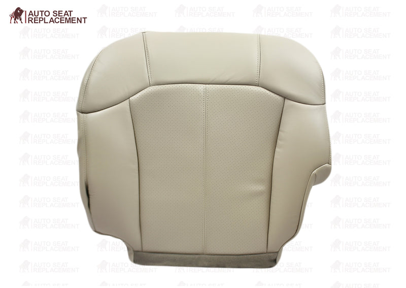 2000 2001 2002 Cadillac Escalade driver bottom leather Seat Cover Replacement Shale Light Neutral Perforated Tan Auto Seat Replacement