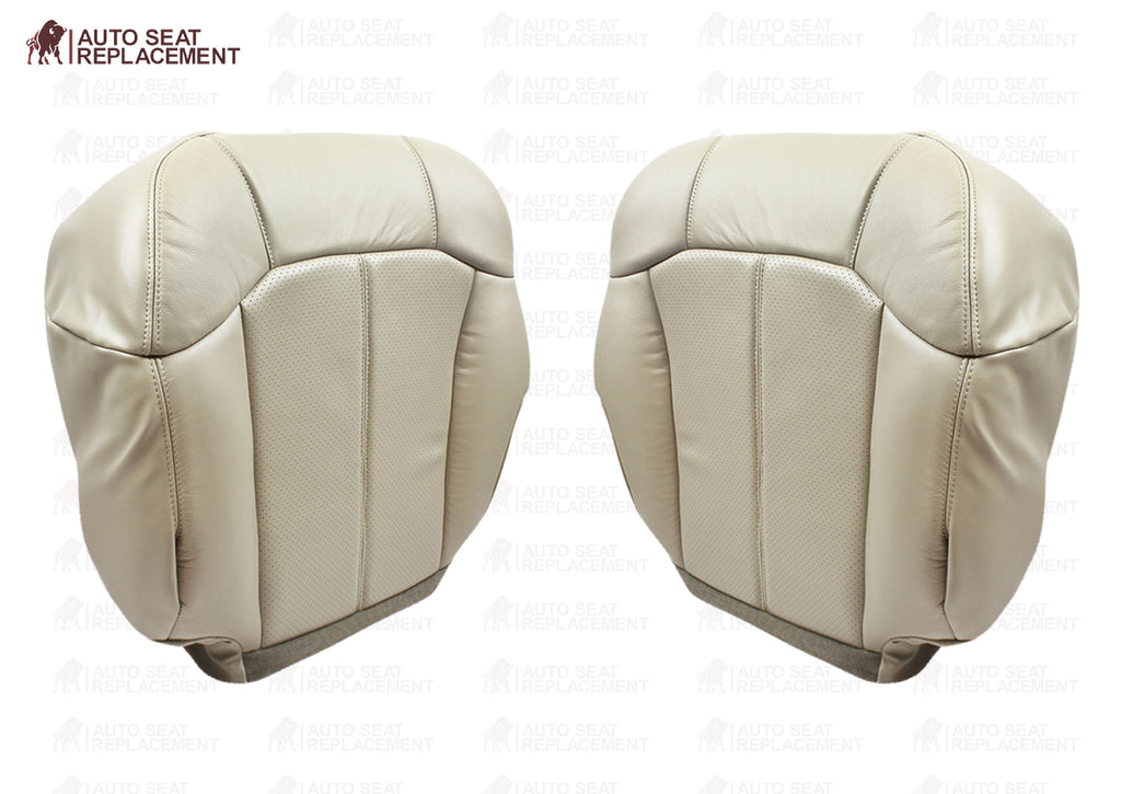 2000 2001 2002 Cadillac Escalade leather Seat Cover Replacement Shale Light Neutral Perforated Tan