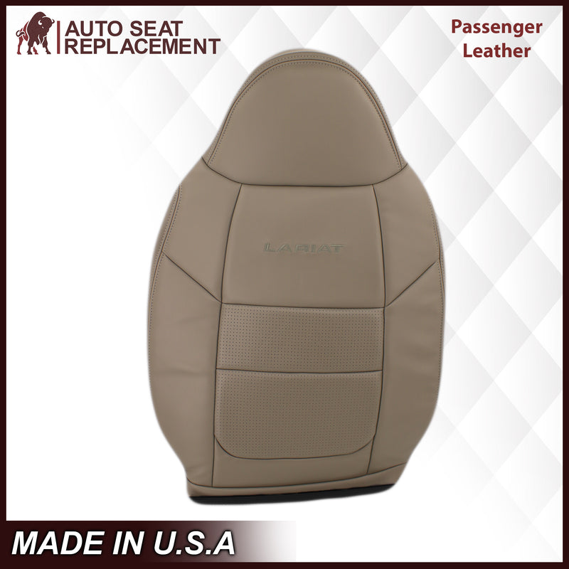 2001 Ford F250 F350 Lariat Perforated Seat Cover in Tan: Choose Leather or Vinyl