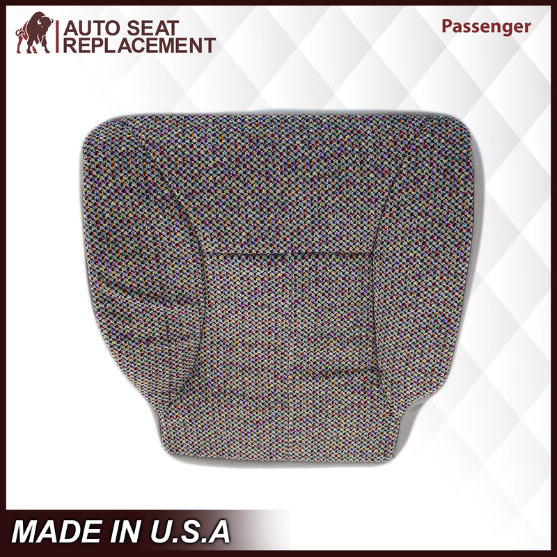 1998-2001 Dodge Ram 1500 SLT Laramie Seat Cover in Cloth with Mist Gray skirt: Choose From Variation