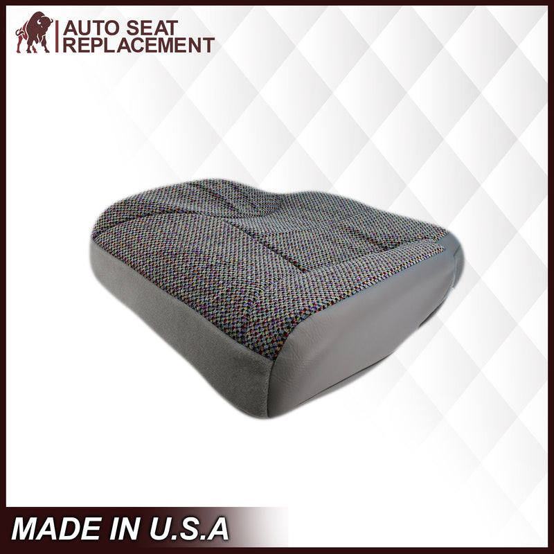 1998-2002 Dodge Ram 2500 3500 SLT Laramie Seat Cover in Cloth with Mist Gray skirt: Choose From Variation