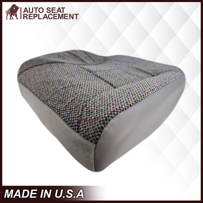 1998-2002 Dodge Ram 1500 SLT Laramie Seat Cover in Cloth with Mist Gray skirt: Choose From Variation