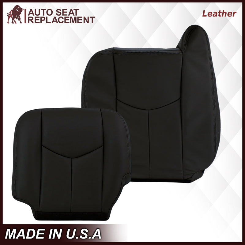 2003-2007 Chevy Silverado/Avalanche & GMC Sierra work Truck Seat Cover in Dark Gray 40/20/40 (Leanback Without Armrest): Choose Leather or Vinyl