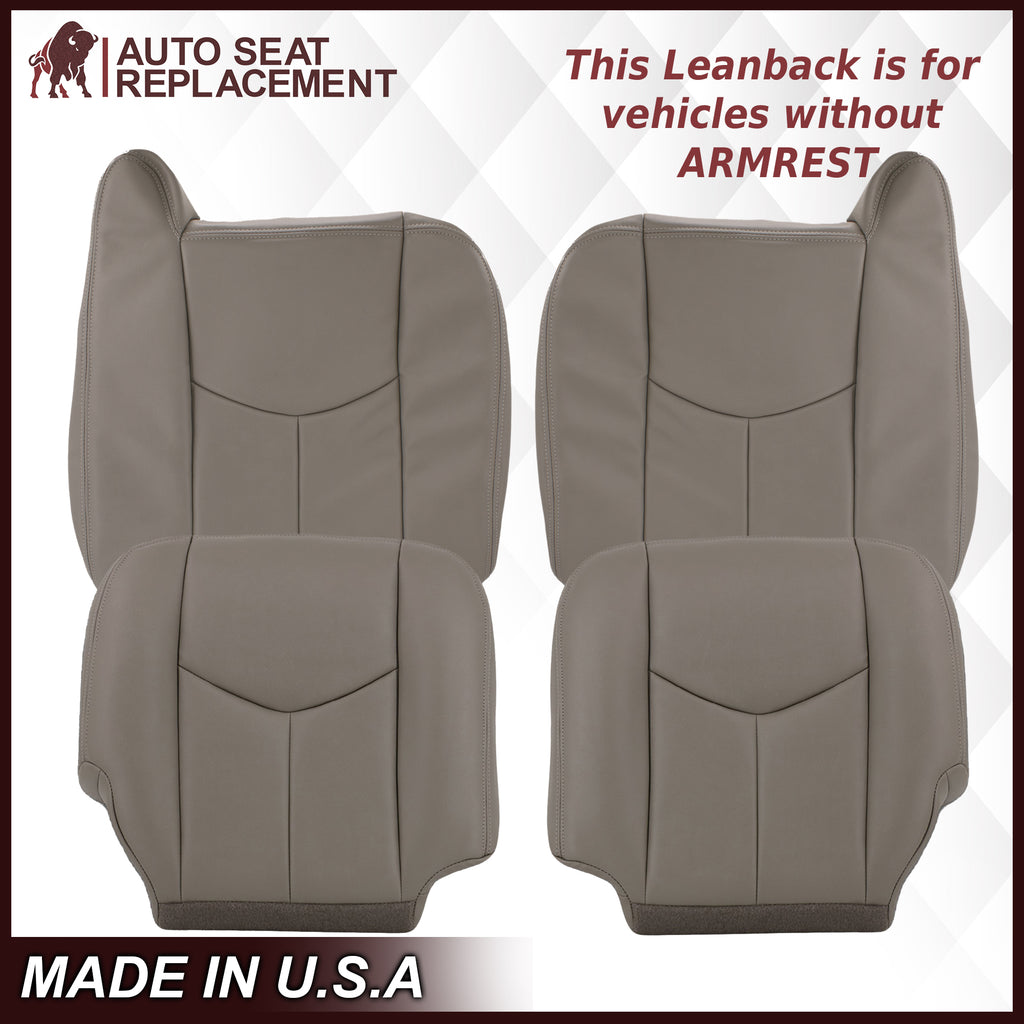 2003-2007 Chevy Silverado/Avalanche & GMC Sierra Work Truck Seat Cover in Gray 40/20/40 (Leanback Without Armrest): Choose Leather or Vinyl