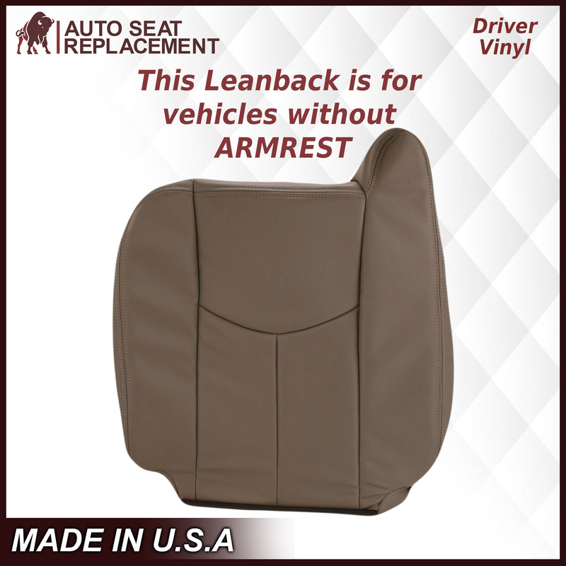 2003-2007 Chevy Silverado/Avalanche Work Truck Seat Cover in Tan 40/20/40 (Leanback Without Armrest): Choose Leather or Vinyl