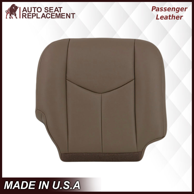 2003-2007 Chevy Silverado/Avalanche & GMC Sierra Work Truck Seat Cover in Tan 40/20/40 (Leanback Without Armrest): Choose Leather or Vinyl