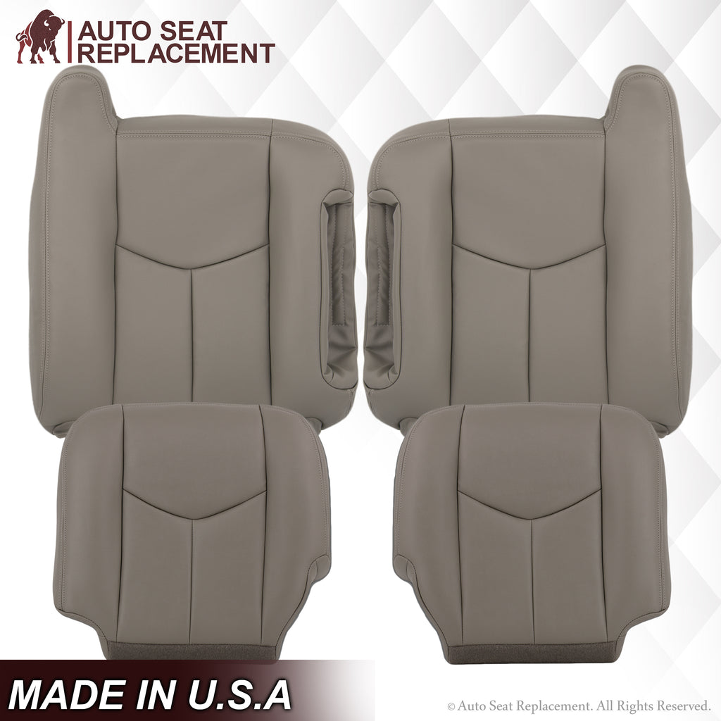 2003 2004 2005 2006 2007 Chevy Tahoe Suburban Seat Cover replacement leather bottom top driver passenger  Light Gray 922 Auto Seat Replacement