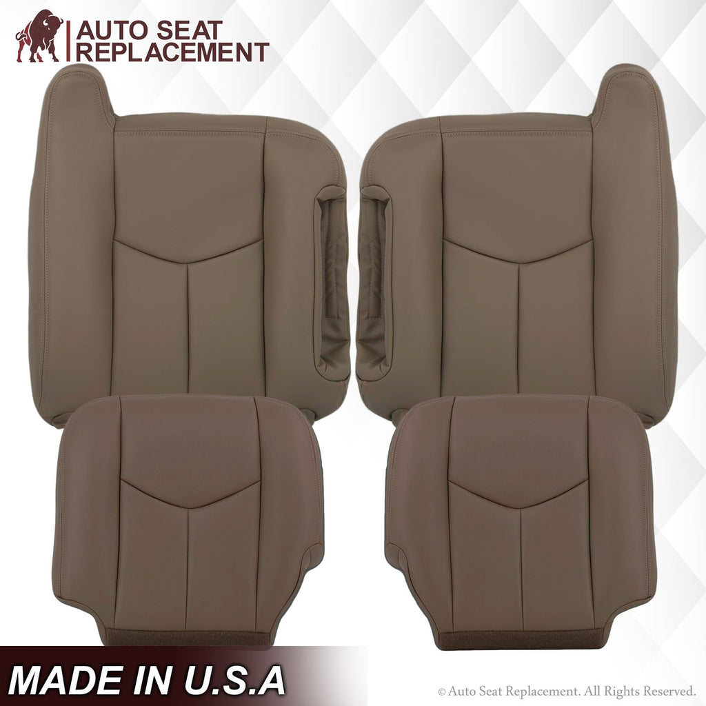 2003 To 06 GMC Sierra 1500 2500 3500 HD Upholstery leather seat-cover Dark-Gray